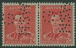 SG 184 ACSC 182A 2d Scarlet King George VI perforated G over NSW (AA1/59)